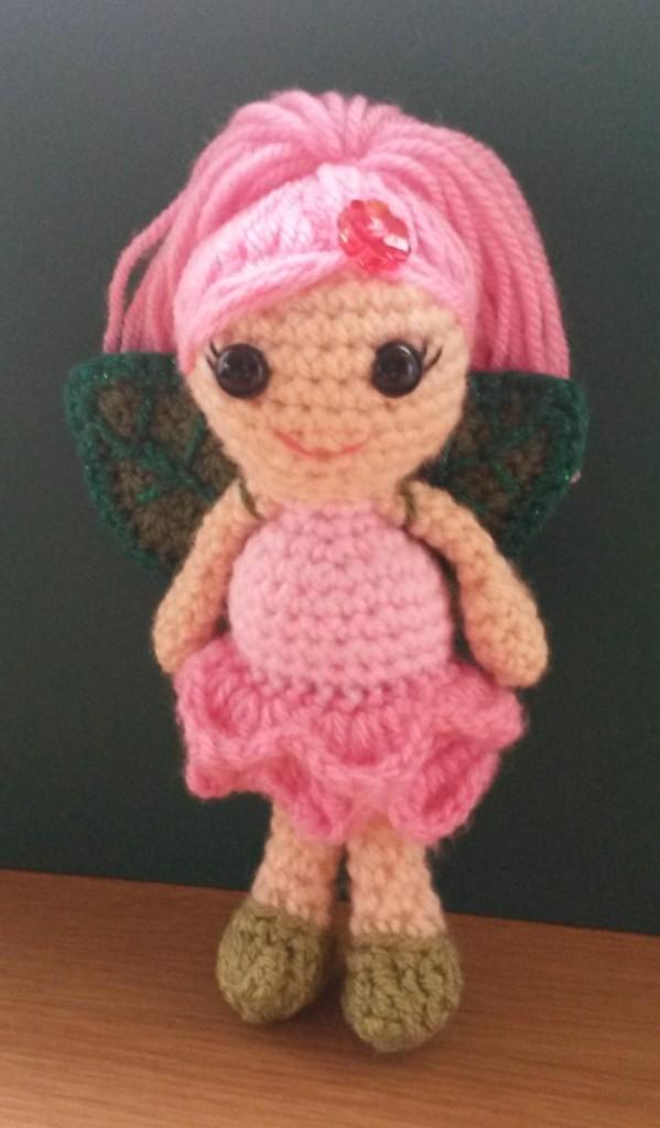 Rose Flower Fairy crochet pattern by Janferie MacKintosh