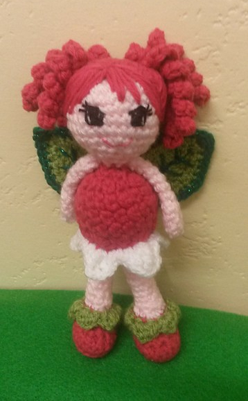 Berry Crochet Fruit Fairy pattern by The Crafty Therapist