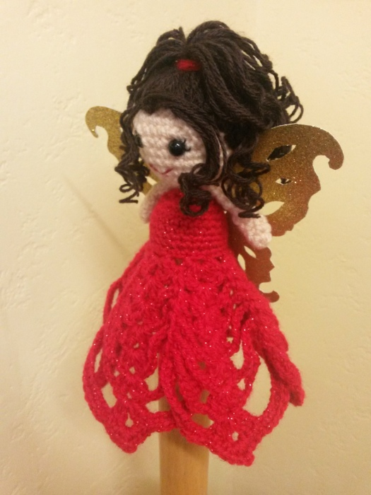 Christmas Tree Fairy Red