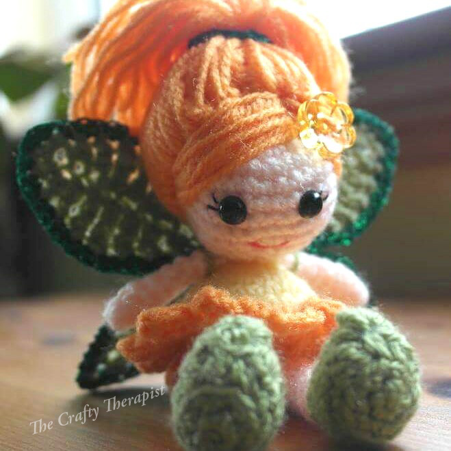 Crochet Calendula Fairy Doll crochet pattern by The Crafty Therapist