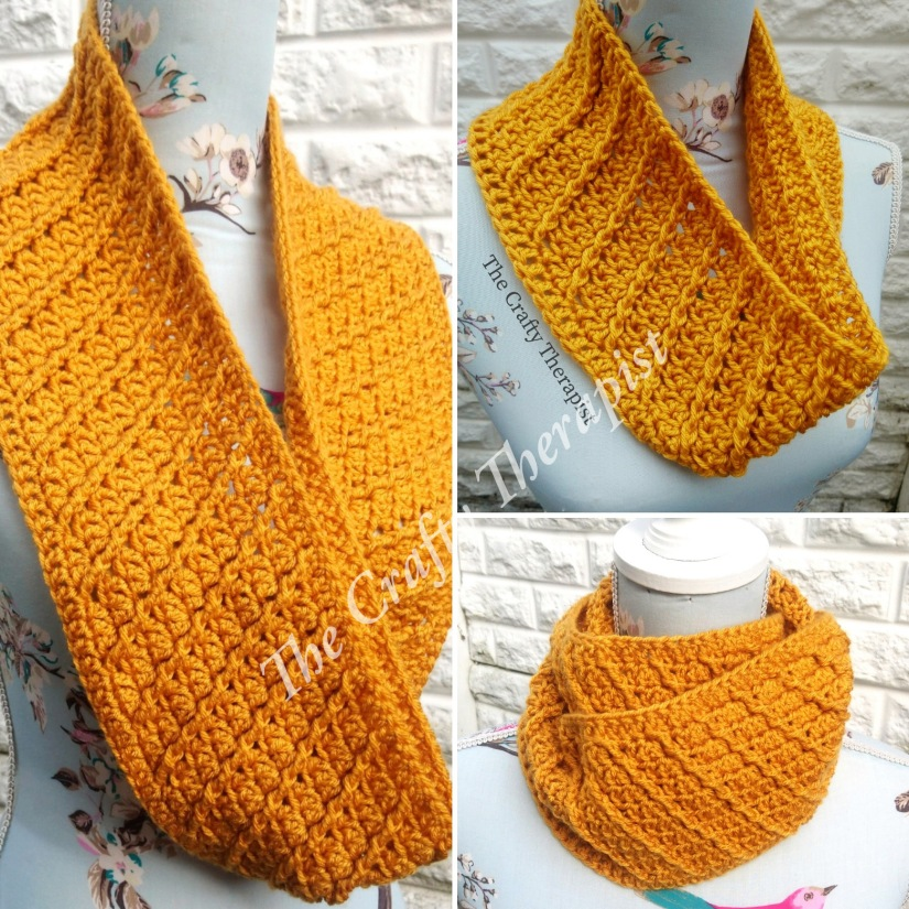 Spiral Cowl Crochet Pattern by The Crafty Therapist