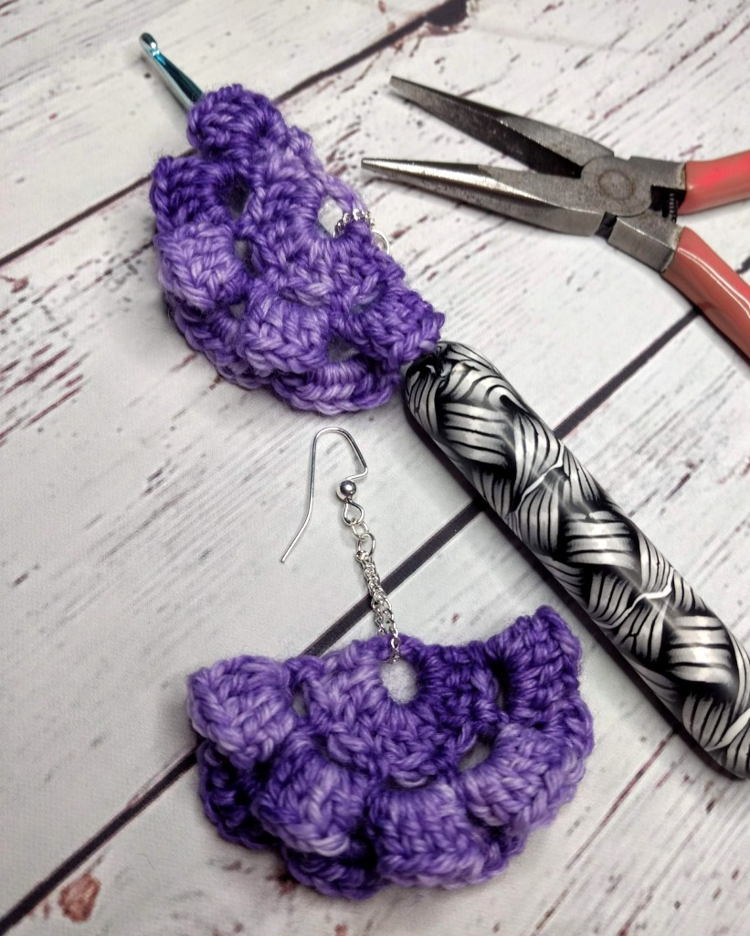 Spring in Bloom Earrings by Amber Bliss Calderon - part of a Spring Floral crochet pattern round-up by The Crafty Therapist